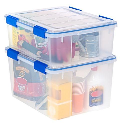 IRIS WSB-SD WeatherShield Storage Quart, Clear,