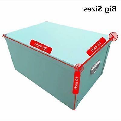 X-Super Decorative Storage Boxes with Lip Sturdy Organizer Gift Boxes