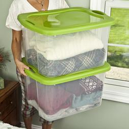 Sterilite Large 70 Qt Clear Base Storage Container Box Tote