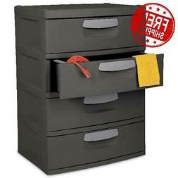Large Capacity Storage Drawer Box Basement Garage Attic 4 Dr