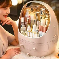 Cosmetic Portable Makeup Storage Box Organizer Beige Color U