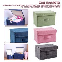 Large Cotton linen Fabric Folding Storage <font><b>Box</b></