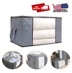 Large Foldable Storage Bag Clothes Blanket Quilt Closet Swea