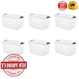 Large Latches Container Box Totes Storage Organizer Clear Bo