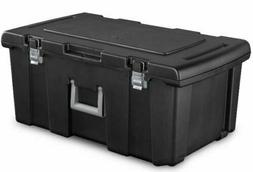 LARGE PLASTIC STORAGE BOX Container Wheeled Tote Bin 16 Gal