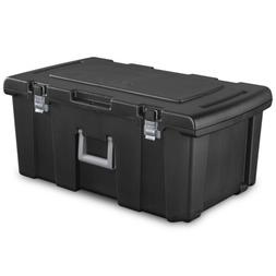 Large Plastic Storage Box Containers Wheeled Gear Tote Porta