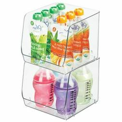 mDesign Large Plastic Storage Organizer Bin for Baby/Kids Fo