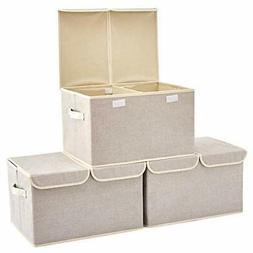 Large Storage Boxes  EZOWare Large Linen Fabric Foldable