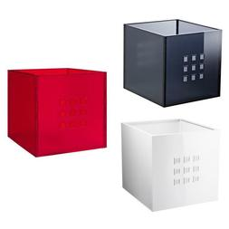 IKEA LEKMAN Storage Box, red, white or gray