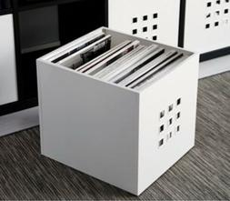Ikea Lekman White Cube Box Organizer Record Storage Crate To