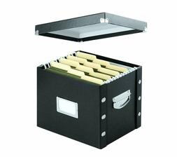 Letter Size File Box Storage Bin Document Paper Folder Magaz