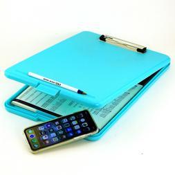 Letter Size Office Clipboard Storage Slim Case Box Portable