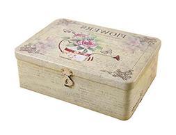 Lockable Iron Box Desktop Storage Box Piggy Bank Insurance B