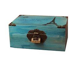 Lockable Wooden Box Desktop Storage Box Piggy Bank Insurance