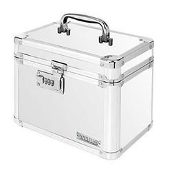 Vaultz Locking Personal Security Box, 10 x 7 x 7 Inches, Whi