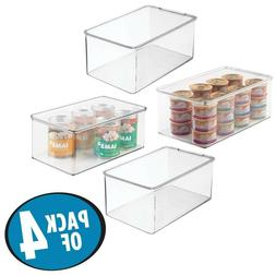 MDesign Long Plastic Stackable Storage Container Box With Hi