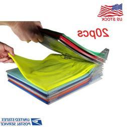 lot 20 packs clothes organizer system closet