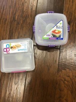 Sistema Lunch Cube Klip To Go Salad Containers Bento School