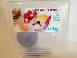 Sistema Lunch Cube Max To Go With Yoghurt Pot 2 Litres Multi