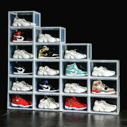 Magnetic Shoe Storage Box Drop Side/Front Sneaker Case Stack