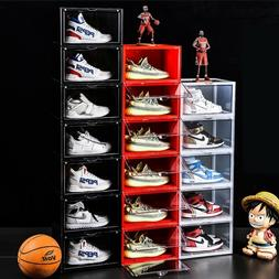 Magnetic Side Open Storage Shoe Box Stackable Foldable Stora