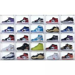 Magnetic Sneaker Storage Box Side Open Heavy Shoe Organizer