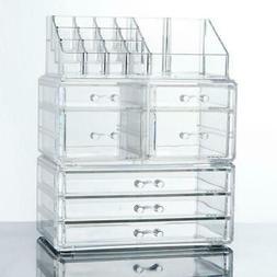 makeup cosmetics jewelry organizer acrylic display box