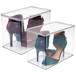 mDesign Closet Storage Organizer Shoe Box, for High Heels, T