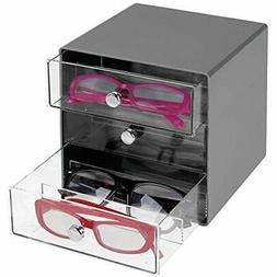 mdesign closet systems stackable plastic eye glass