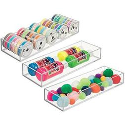 MDesign Craft & Sewing Supplies Storage Stackable Drawer Org