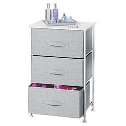 mDesign Fabric 3-Drawer Storage Organizer Unit for Closet, B