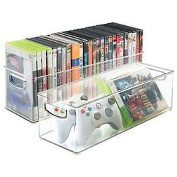 mDesign Household Storage Bin for DVDs, PS4 and Xbox Video G