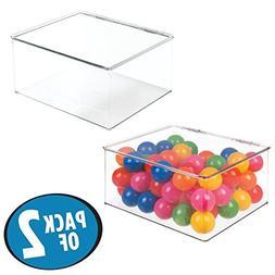 mDesign Kids/Baby Toy Storage Box, for Balls, Costumes, Bloc