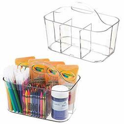 mDesign Plastic Portable Craft Storage Organizer Caddy Tote,