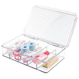 mDesign Storage Box Organizer for First Aid Kit, Medicine, M
