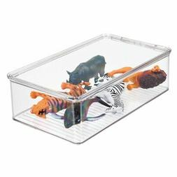 mDesign Kids/Baby Toy Storage Box, for Dolls, Modeling Clay,