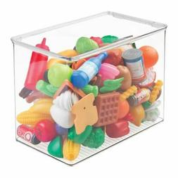 mDesign Kids/Baby Toy Storage Box, for Blocks, Play Kitchen