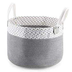 MEÉLIFE Storage Basket Cotton Rope Woven Contianers Handles