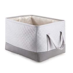 MEÉLIFE Storage Basket Foldable Cotton Fabric Tweed Storage
