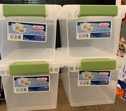 medium clip box 1962 plastic storage container