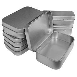 Hulless 3.75x2.45x0.8 Inch  Metal Hinged Top Tin Box Contain