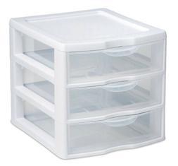mini 3 drawer wht sm