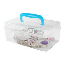 Mini Clear Plastic Travel Storage Box / Portable Transparent