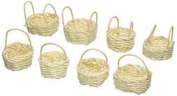 ArtVerse DAR012HB1 Mini Willow Bleached Basket, 8 Pieces, 1.