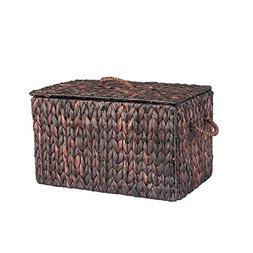 Household Essentials ML-6610B Autumn Wicker Storage Trunk, S
