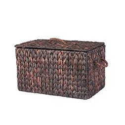 Household Essentials ML-6610B Autumn Wicker Storage Trunk, S