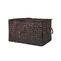 Household Essentials ML-6615B Extra Large Wicker Storage Box