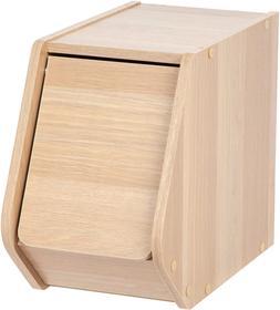 IRIS USA, SBD-NLB, Narrow Modular Wood Stacking Storage Box