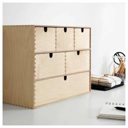 Ikea Moppe Birch Plywood 6 Drawers Mini Chest  Storage 402.1