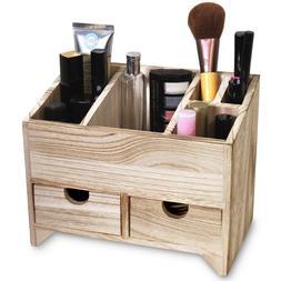 Multifunctional Wooden Desktop Organizer Office Supplies Dra